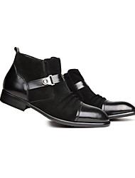 Sapatos Masculinos Botas Preto Couro Envernizado / Pele Casual
