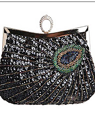 Women Satin / Glitter Casual / Event/Party / Wedding Evening Bag Blue / Black
