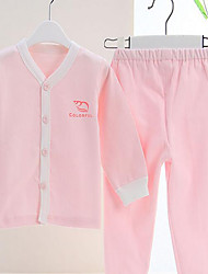 Baby Casual/Daily Solid Clothing Set-Cotton-Winter / Spring / Fall-Blue / Pink / Yellow
