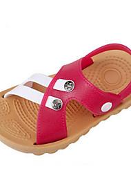 Para Meninos-Chinelos e flip-flops-Sandálias / Conforto / Bico Aberto-Rasteiro-Preto / Azul / Verde / Vermelho-PVC-Casual