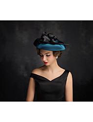 Women's Satin Feather Flax Net Headpiece-Special Occasion Fascinators 1 Piece