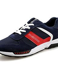 Herren-Flache Schuhe-Sportlich-Wildleder-Flacher AbsatzSchwarz Blau Rot Grau