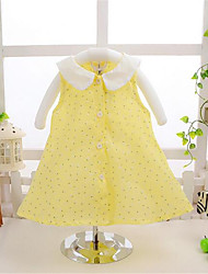 Girl's Pink / Yellow Dress,Striped Cotton Summer