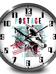 Howling Wolf Creative Electronic Wall Clock