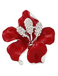 Lady Boutique Sexy Red Flower Rhinestone Wedding Brooches