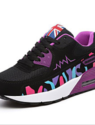 Women's Shoes Tulle Air-cushion Student Comfort / Round Toe Sneakers Outdoor / Athletic / Casual Wedge Heel