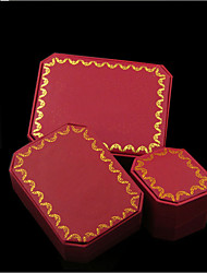 Jewelry Boxes Fabric 1pc Red