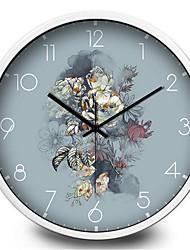 Retro Color Flower Living Room Bedroom Home Silent Quartz Wall Clock