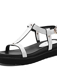 Calçados Femininos-Saltos-Saltos-Salto Grosso-Branco-Couro Ecológico-Casual