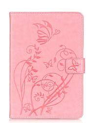 Pour Avec Support Coque Coque Intégrale Coque Couleur Pleine Flexible Cuir PU pour Apple iPad Mini 3/2/1