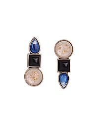 European Style Luxury Gem Earrings Geometric Triangle Stud Earrings for Women Fashion Jewelry