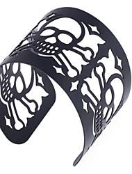 Europe personality skull hollow wide bracelet