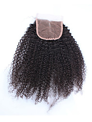 "10""-20"" Black Full Lace Deep Wave Human Hair Closure Medium Brown Chinese Lace 60g/piece gram Cap Size"