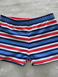 Boy's Sports Print Swimwear,Polyester / Spandex Summer Blue / Multi-color / Red