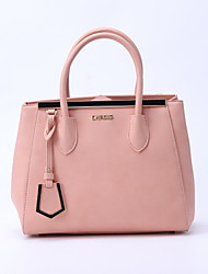 CHROIS Designer Fashion Ladies Pu Handbags Fashion Women Pink Plain Color Shoulder Bags