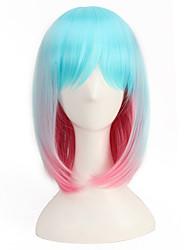 luz azul rosa mixta 35cm de longitud corta pelucas de cabello barato harajuku peluca estilo de Lolita del encanto natural,