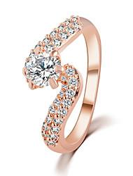 Classical Luxury Popular Shiny Crystal Wedding Ring