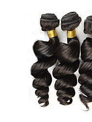 3pcs cheveux vierges de couleur brésilien 8-26inch vague lâche # 1b non transformés cheveux de vierge de première tisse vente chaude.