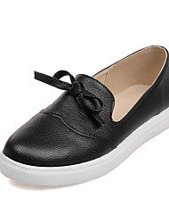 Women's Shoes PU Summer/Fall Comfort/Round Toe Flats Outdoor/Office & Career/Casual Flat Heel Bowknot Black/Yellow/White