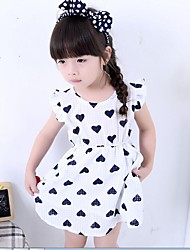 Baby Casual/Daily Print Dress,Cotton Summer Black / Red