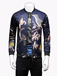 Men's Fashion Chinese Style Print Casual Slim Fit Jacket; Print/Plus Size/Outdoor