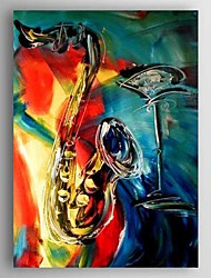 Oil Painting  Saxphone  Hand Painted Canvas with Stretched Framed Ready to Hang