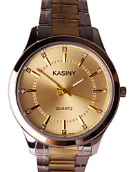 Men's Fashion Watch Casual Watch Quartz Stainless Steel Band Charm Silver Gold