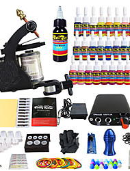 Solong Tattoo Beginner Tattoo Kit 1Pro Machines Power Supply Needle Grips Tips US Dispatch
