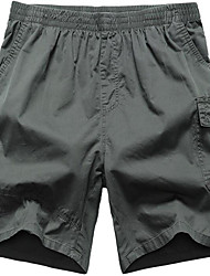 Men's Solid Casual Shorts,Cotton Black / Green / Yellow / Gray