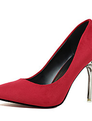 Women's Shoes Suede Spring / Fall Pointed Toe Heels Wedding Stiletto Heel Slip-onBlack / Green Pink Red Silver Gray Gold