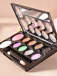 10 Palette de Fard à Paupières Sec Fard à paupières palette Poudre Grand Maquillage Quotidien
