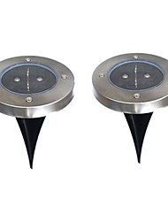 2PCS Solar Power Buried Light Lamp Outdoor Path Way Garden Ground