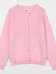 Girl's Casual/Daily Solid Blouse,Cotton Fall Pink / White