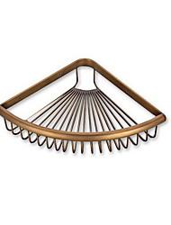tout le cuivre rétro panier de triangle unique pour salle de bain