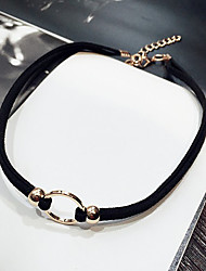Necklace Chain Necklaces / Layered Necklaces Jewelry Daily / Casual Fashion Fabric Black 1pc Gift
