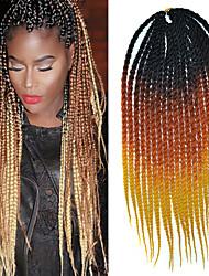 """schwarz, orange, gelb 3 Ton senegal weich Dreadlocks 20"""" kanekalon 2 Stränge 100g Twist Haarflechten"""