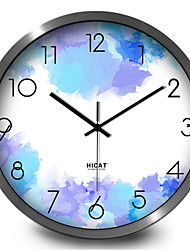 Charm Purple Study Living Room Bedroom Home Decorative Quartz Silent Wall Clock