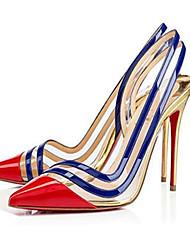 Damen-High Heels-Kleid Party & Festivität-PU-StöckelabsatzRot Gold