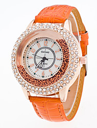 New Arrival Foreign Trade Popular Crystal Bead Rhinestone Leather Fashion Watch For Women