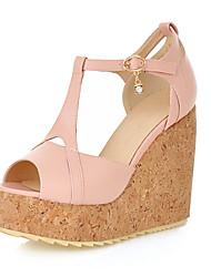 Women's Shoes Heel Wedges / Heels / Peep Toe / Platform Sandals Outdoor / Dress / Casual Black / Blue / Pink / White