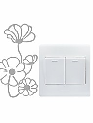 AYA™ DIY Wall Stickers Wall Decals, Flower Type PVC Switch Panel Stickers 8*14cm
