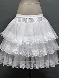 Slips Ball Gown Slip Knee-Length 3 Tulle Netting / Polyester Birdal Petticoats White