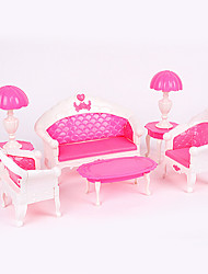 Doll Accessories Play House Toys For Children Sofa Lamp Creative Toy Set