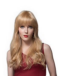 2016 New Hairstyle Design Long Wavy Human Hair Wigs For Women