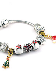 Charm Bracelets 1pc,Silver Bracelet Fashionable Round 514 Alloy Jewellery