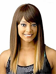 Straight Hair European Weave Mutli- Color Hair Synthetic Wig