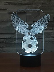 Cool Eagle Football 3D LED Night Light  for Decoration Room Color-Changing Night Light