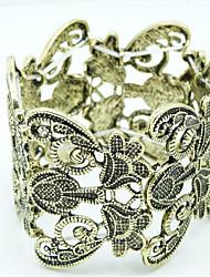 Pulseiras Bracelete Liga Forma Geométrica Fashion Pesta / Diário / Casual Jóias Dom Dourado / Preto,1pç