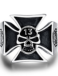 GMYR218 Unique Star Celebrity Men Styles Ring Men's Big Ring Stainless Steel Ring Punk Style Rock Hip-hop Style