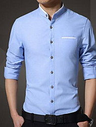 Men's Long SleeveCotton Casual Solid